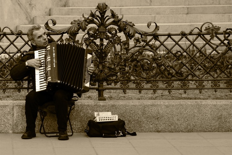 Street music - Photography Course - Warsaw