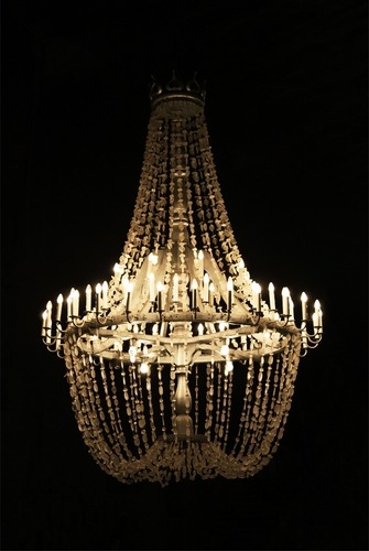 Salt crystal chandelier in St. Kinga Chapel - Wieliczka Salt Mines