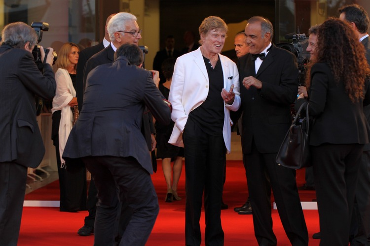 Robert Redford on the red carpet - Lido Island