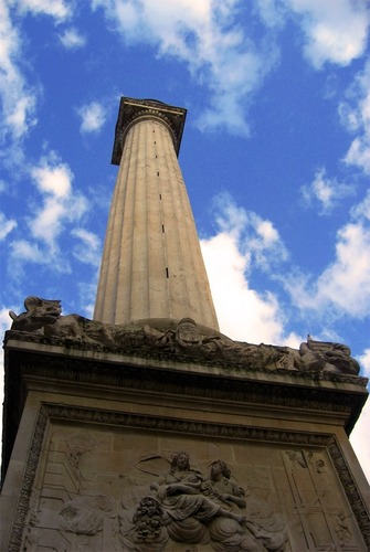 The Monument to the Great Fire of London - England