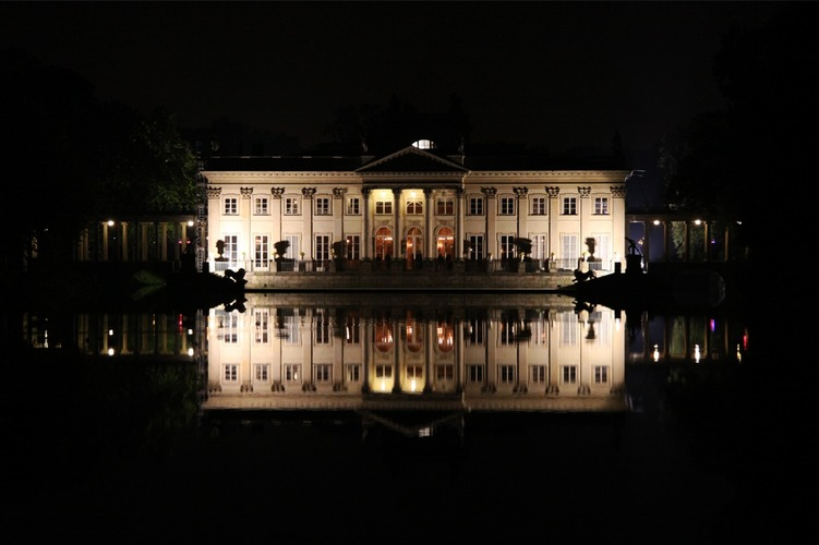 Palace on the Water - Night in Łazienki Park - Warsaw